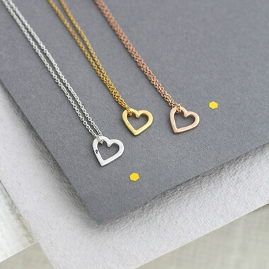 Personalised Mini Heart Necklace