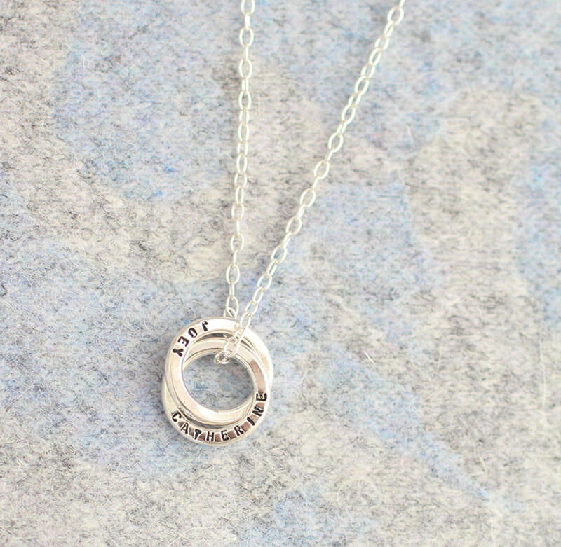Personalised Mini Interlinking Necklace