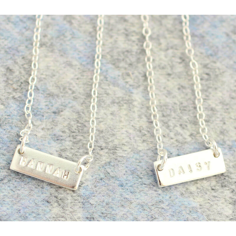 Personalised Friends Eternity Necklace Set