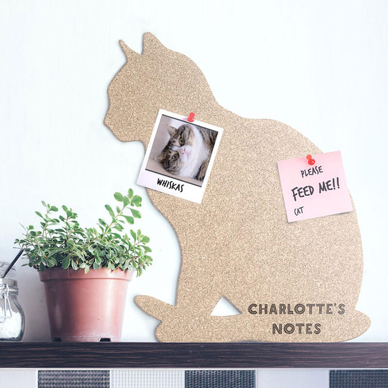 Personalised Cork Cat Pin Board