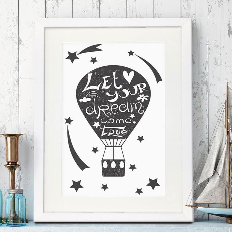 Let Your Dream Come True Framed Poster