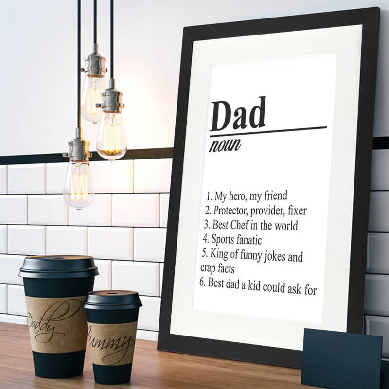 Personalised Framed Poster - Definition