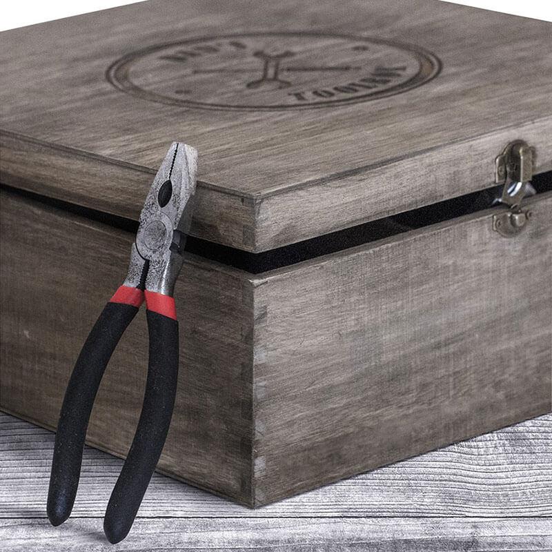 Personalised Vintage Wooden Toolbox