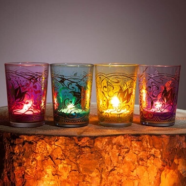 Moroccan Tea Light Holders - Set Of 4