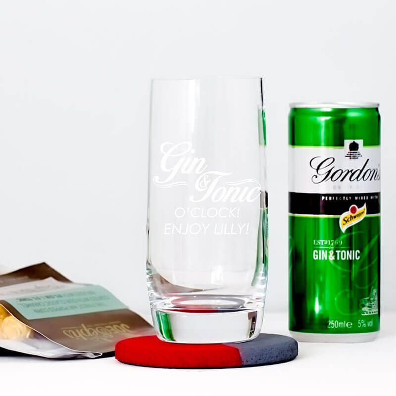 Personalised It's Gin & Tonic O'Clock Kit