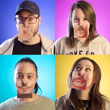 3D Motion Face Coasters