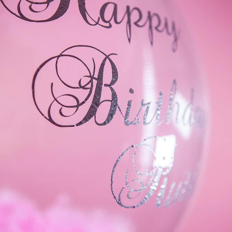 Personalised Feather Birthday Balloon