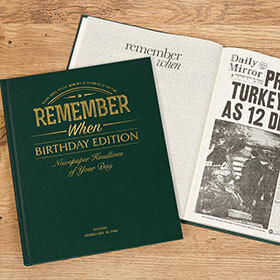 Personalised Newspaper Book - Birthday Edition