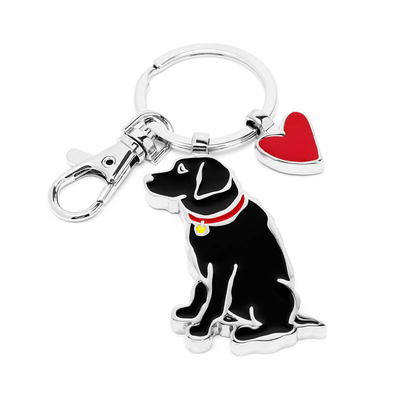 Black Lab Keyring