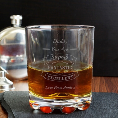 Personalised Typography Whisky Glass