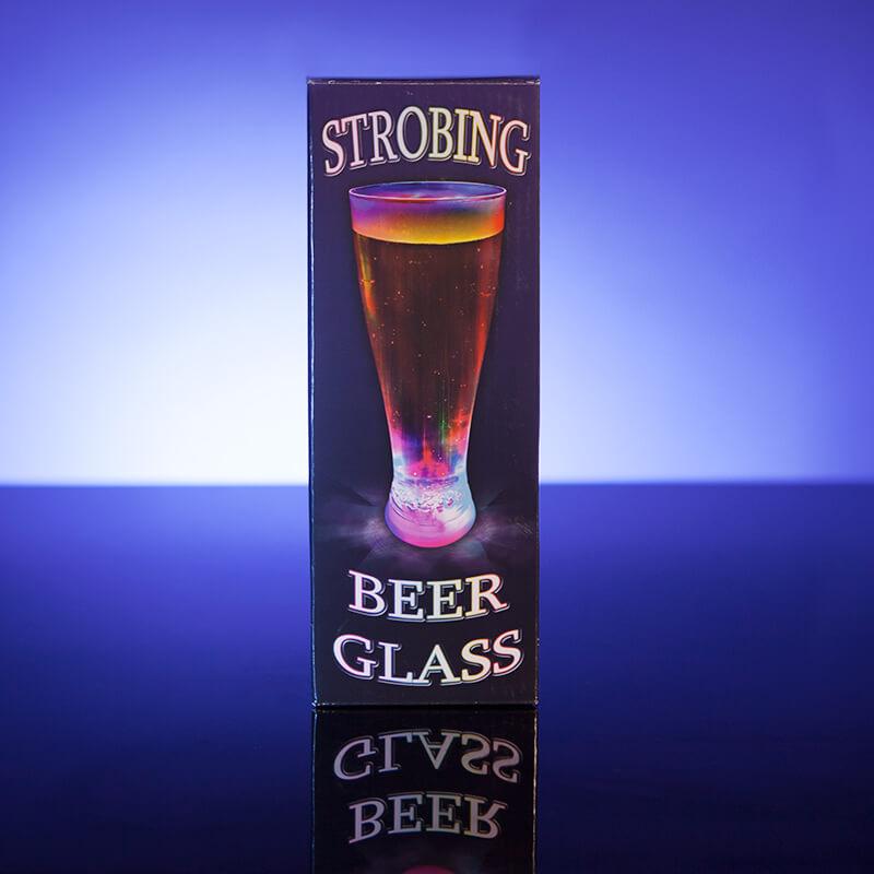 LED Strobing Beer Glass