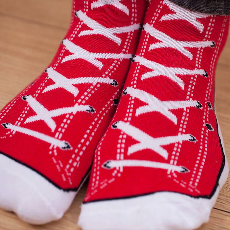 Sneaker Socks - Red