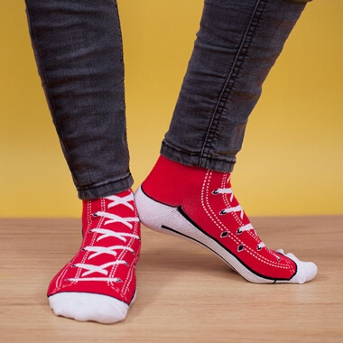 Sneaker Socks - Red