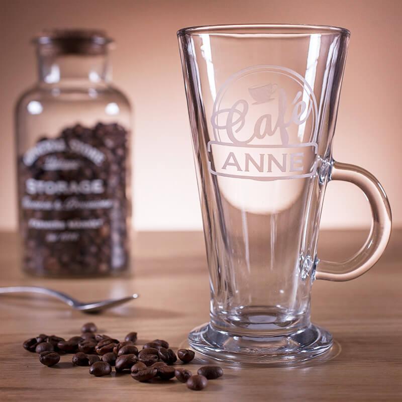 Personalised Bistro Latte Glass