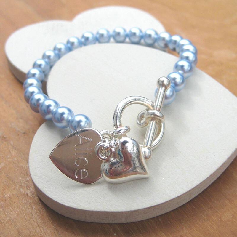 Personalised Swarovski Pearl Bracelet