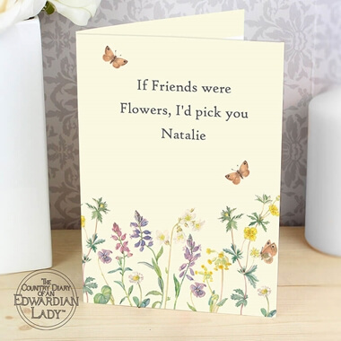Personalised Wild Flowers Card