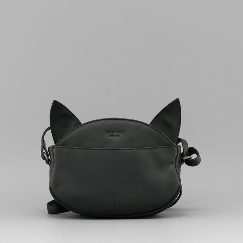 Bruce the Cat Leather Cross Body Bag