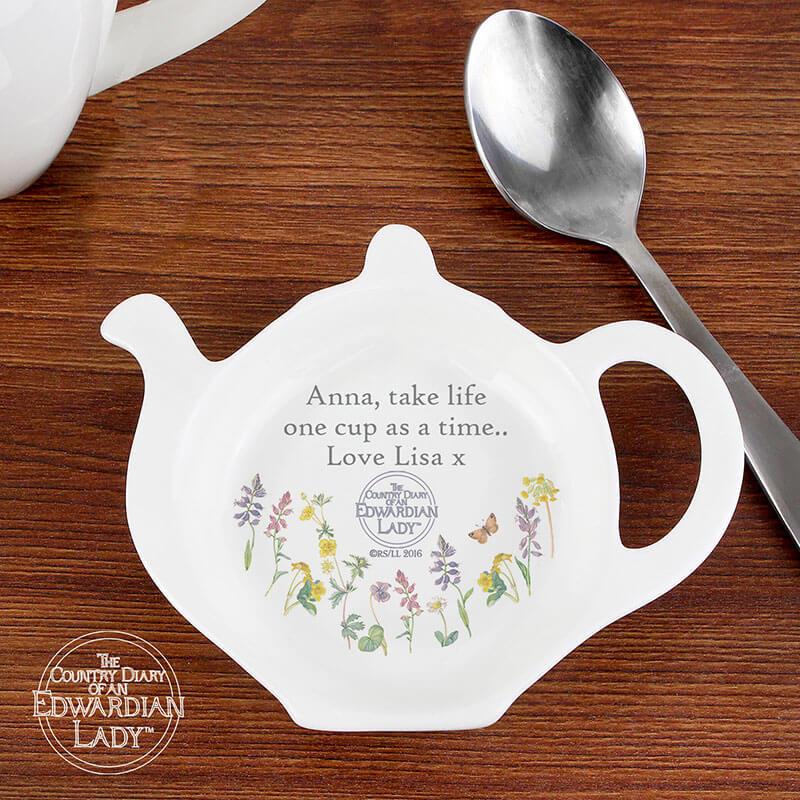 Personalised Wild Flowers Tea Bag Rest