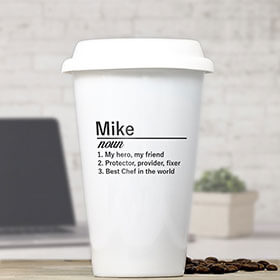 Personalised Definition Ceramic Travel Mug