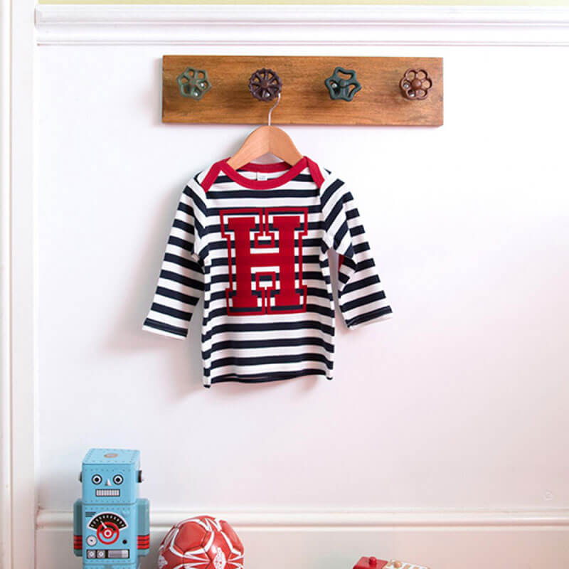 Personalised Long Sleeve Initial Baby Top