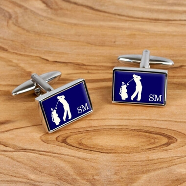 Personalised Golf Cufflinks