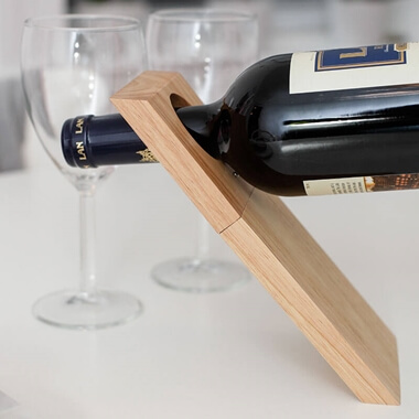 Illusion Wine Bottle Stand & Corkscrew