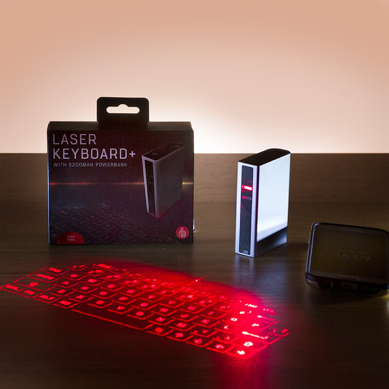 Laser Keyboard And Powerbank