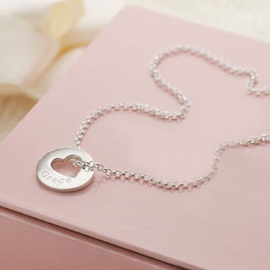 Personalised Hope Open Heart Necklace