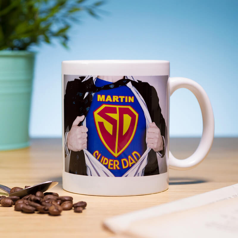 Personalised Superdad Mug