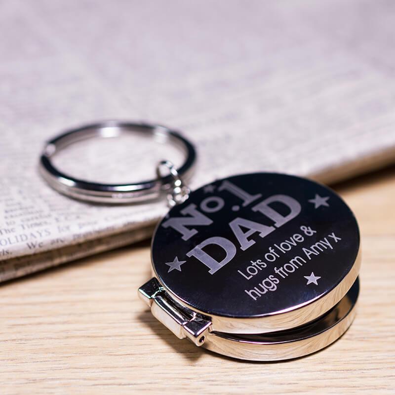 Personalised No1 Dad Keyring