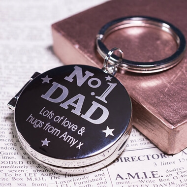 Personalised No1 Dad Keyring