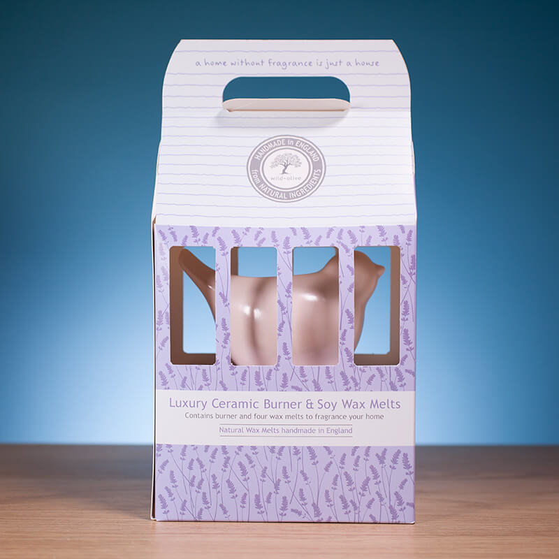 Luxury Ceramic Burner & Soy Wax Melts - Pale Pink