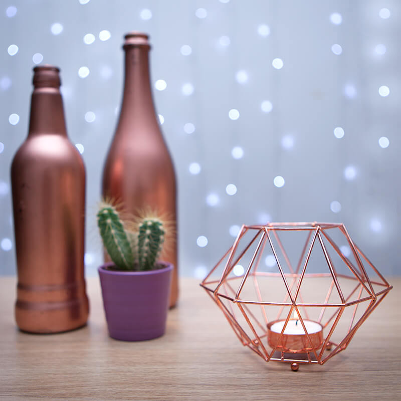 Copper Tea Light Holder