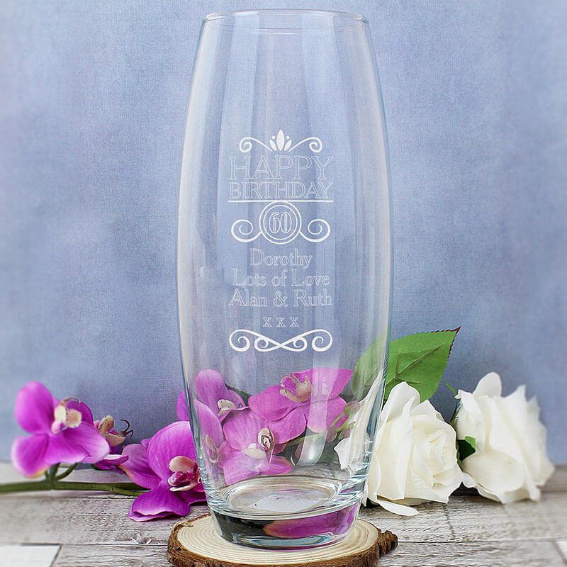 Personalised Birthday Vase