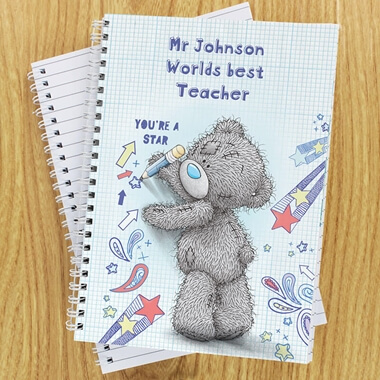 Personalised Me to You Teacher Notebook