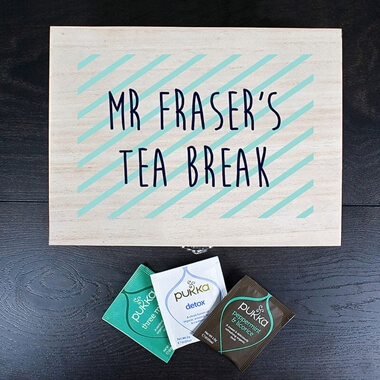 Personalised Teacher's Tea Break Box -  Stripes
