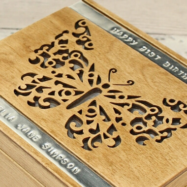 Personalised Trinket Box - Butterfly