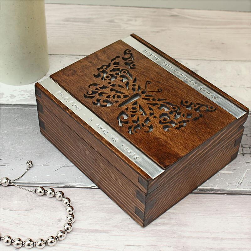 Personalised Trinket Box - Butterfly
