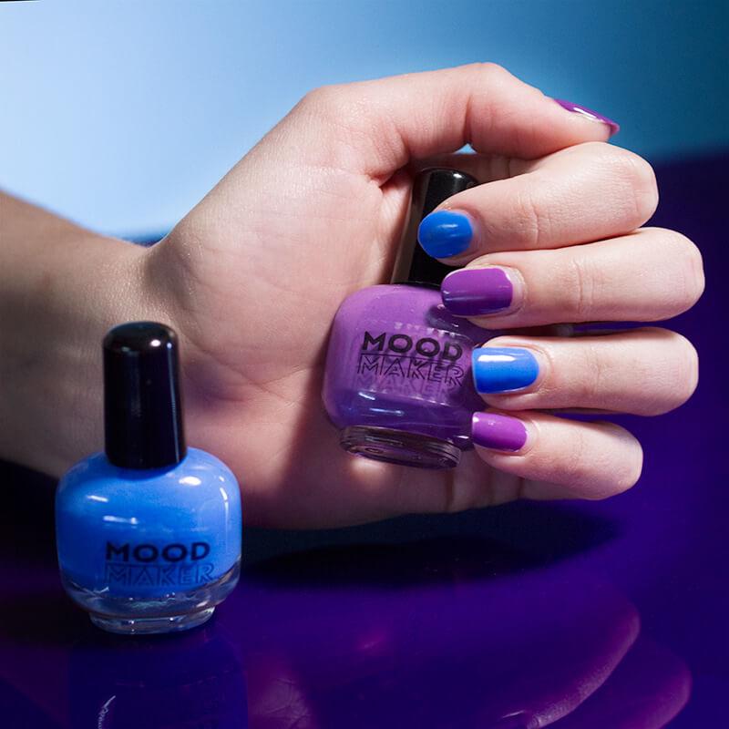 Mood Maker Colour Changing Nail Polish - Purple