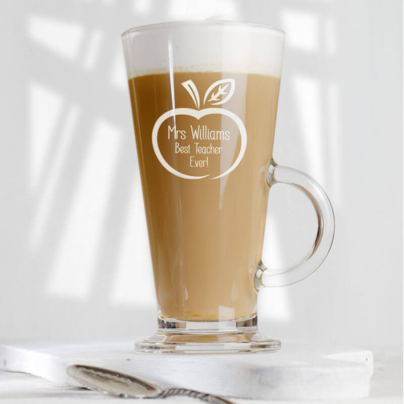 Personalised Teacher's Glass Latte Mug