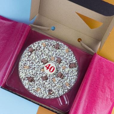 "40th Birthday Chocolate Pizza 10"""