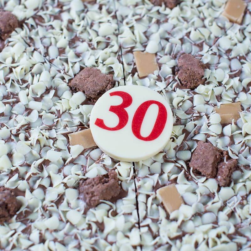 "30th Birthday Chocolate Pizza - 10"""