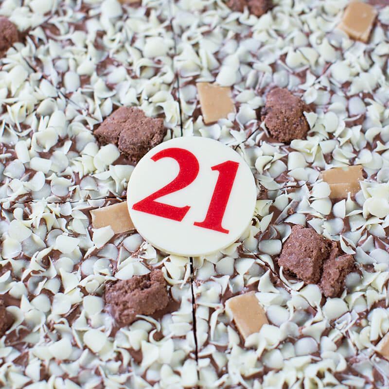 "21st Birthday Chocolate Pizza - 10"""