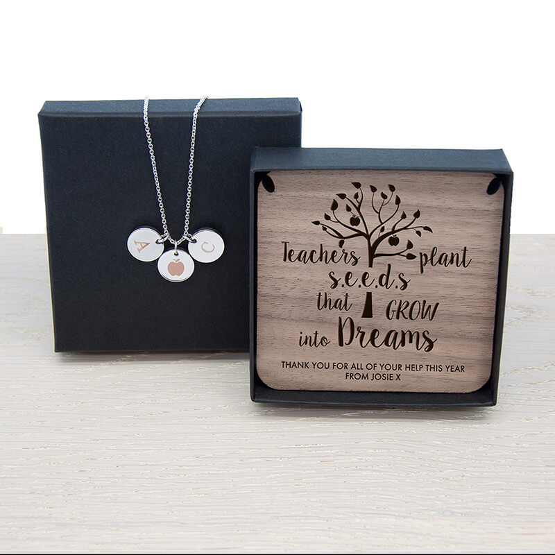 Personalised Teacher's Dreams Necklace