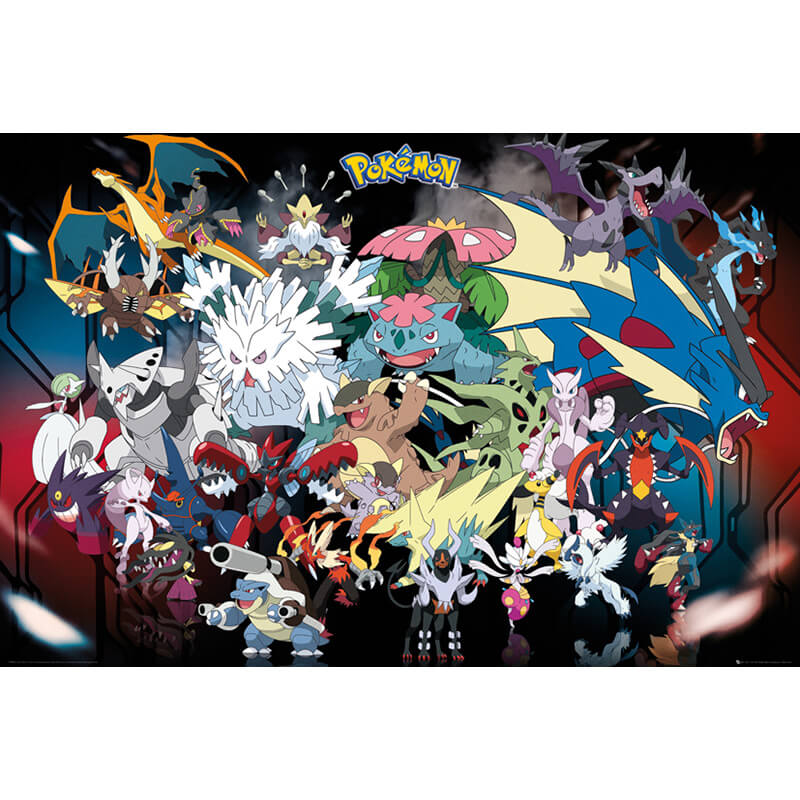 Mega Pokemon Poster