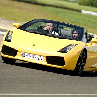 Triple Supercar Driving Blast with High Speed Passenger Ride