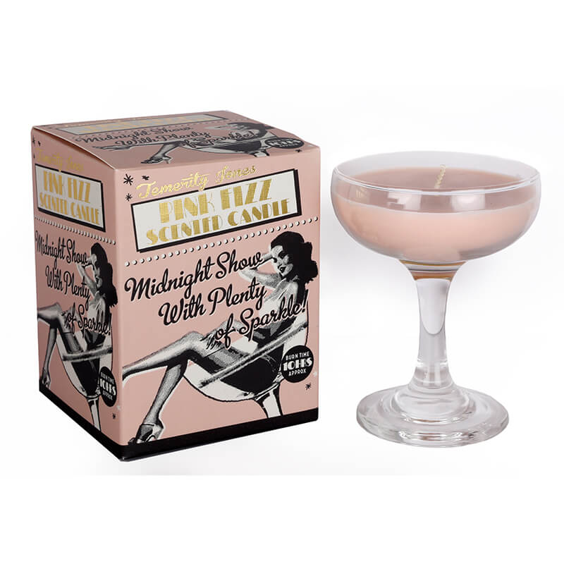 Pink Fizz Cocktail Scented Candle