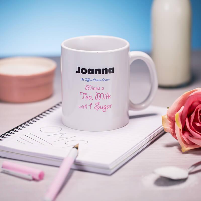 Personalised Office Character Mug