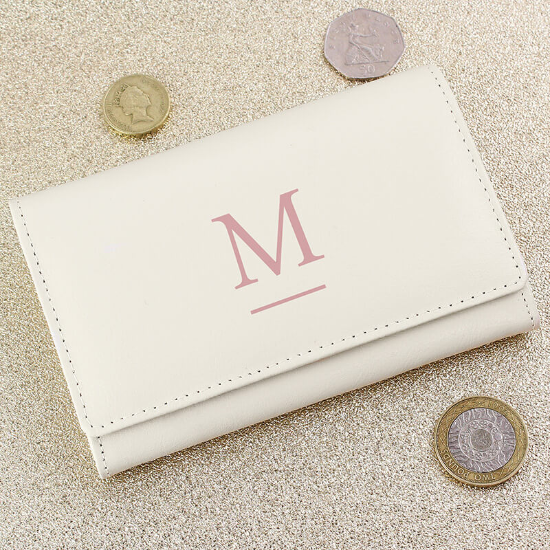 Personalised Cream Purse
