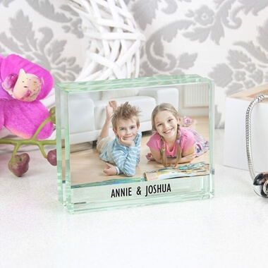 Personalised Crystal Block Photo Frame
